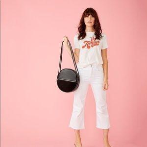 Ban.do Circle Black Leather Amigo Shoulder Bag